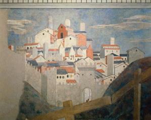 Piero detail of buildings