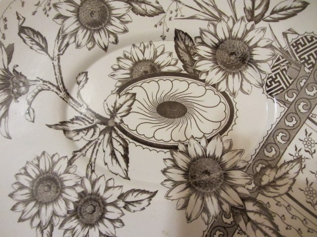 Brown And White Transferware On The Way