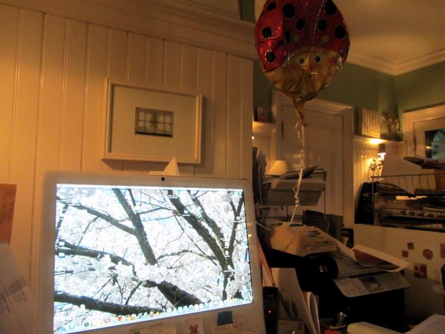 computer & balloon