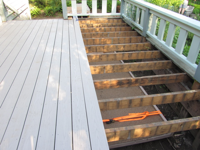 half deck with ramp stowed