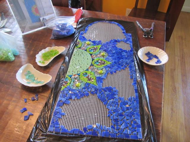 trash can mosaic