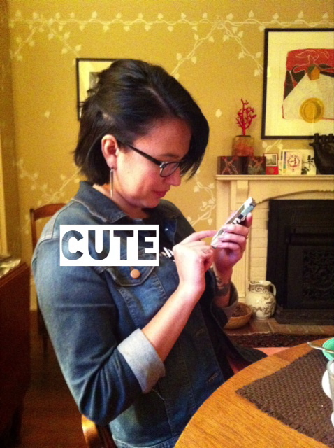 Aliza texting