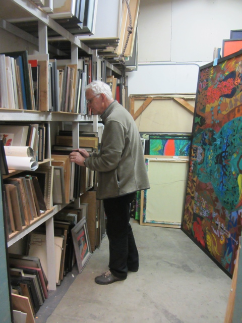 curator at work