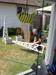 Ian fixing