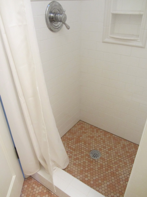 bathroom finished shower floor
