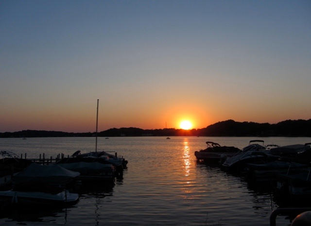 Twin Lakes sunset