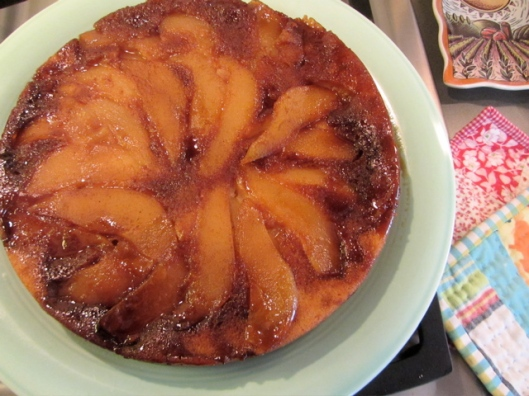 pear upside down cake 2