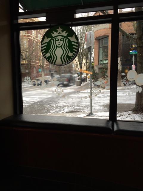 Starbuck's snow