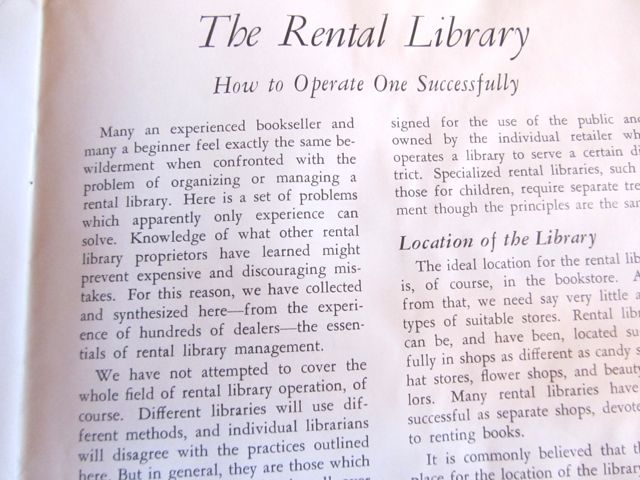 THE RENTAL Library