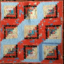 The babyshower quilt...each guest brought some fabric and I put it together...