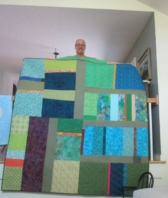 Bill and his quilt