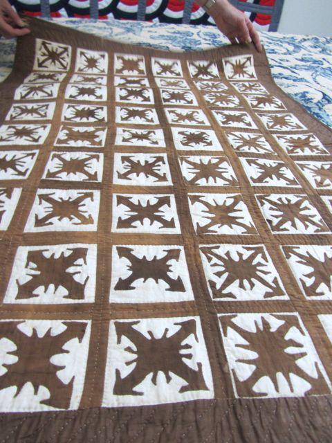 cut work crib quilt