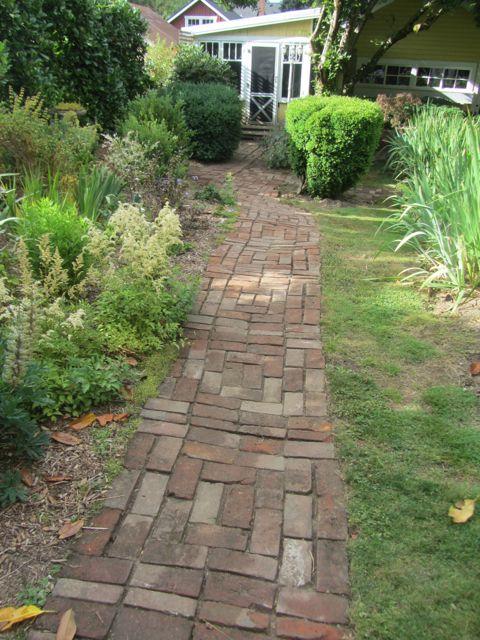 Evan's brick path