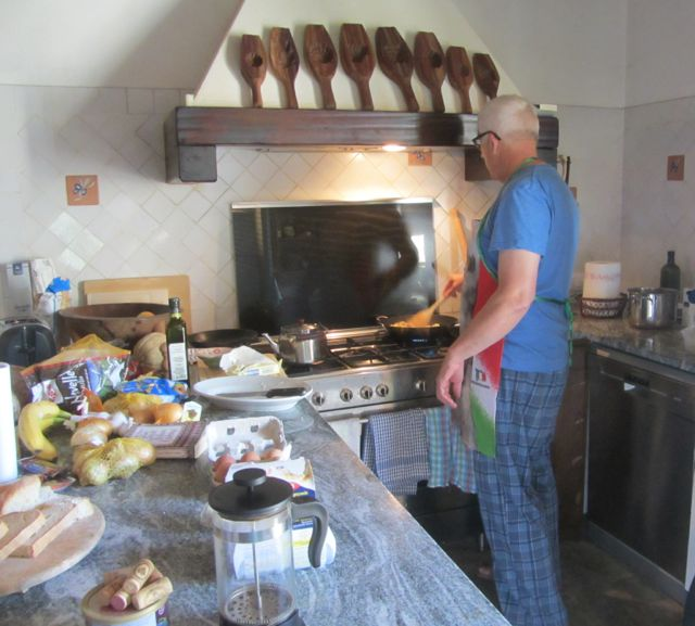 he chef at work