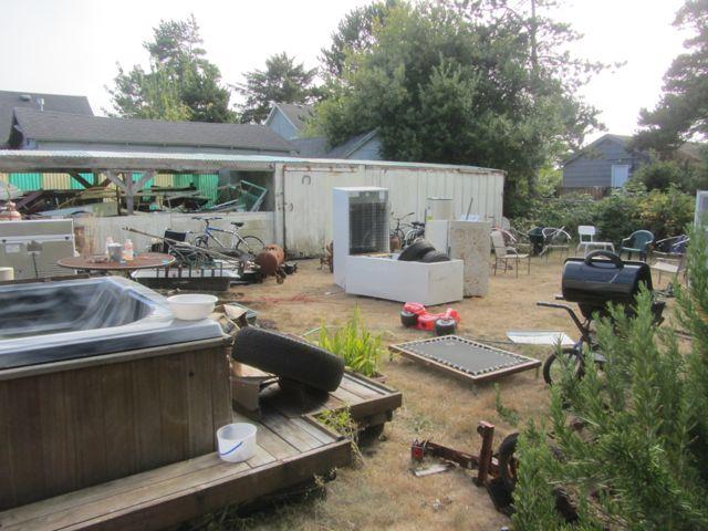 Tim's backyard
