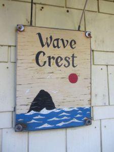 Wave Crest sign