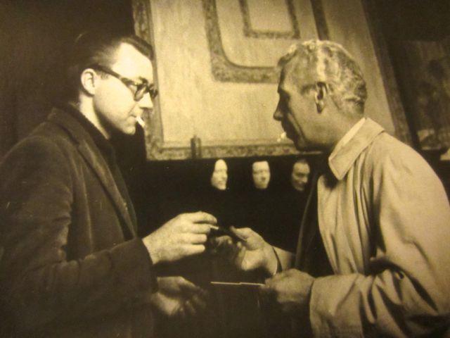 George and Lopuie smoking