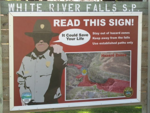 White Rover Falls sign