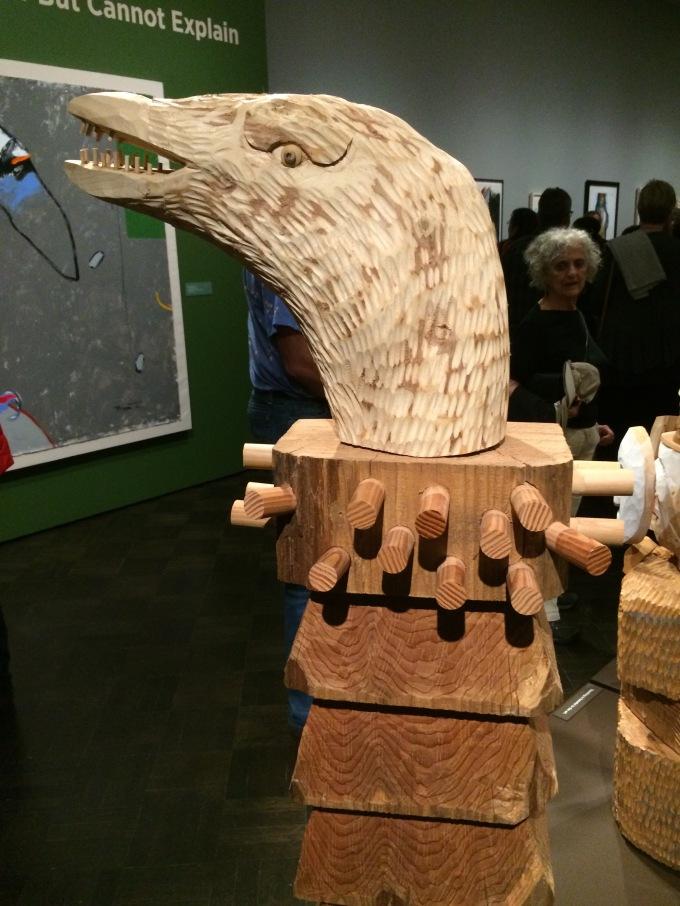 Crow Post, detail, 2014
