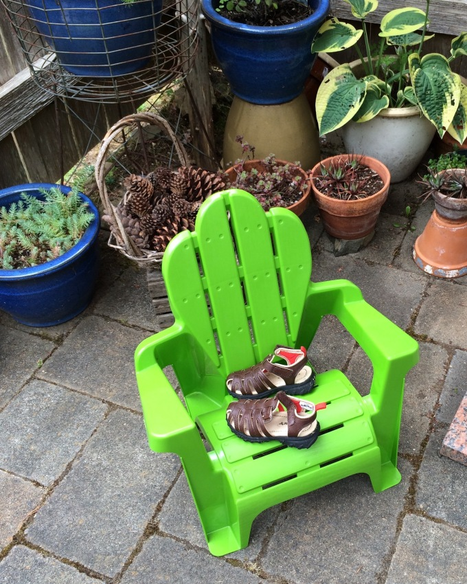 chair and sandals
