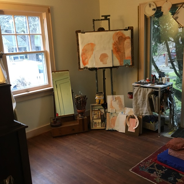 Julie Green's studio