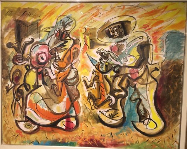 """Andre Masson, """"Les Tueuers des Lapins, 1966"""
