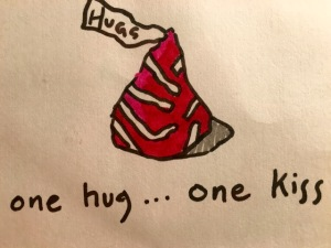 one hug one kiss