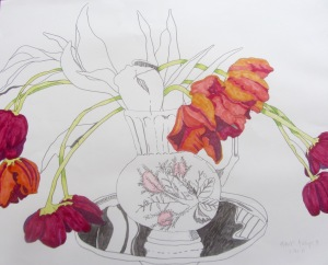 """Henk's tulips #3"", large"
