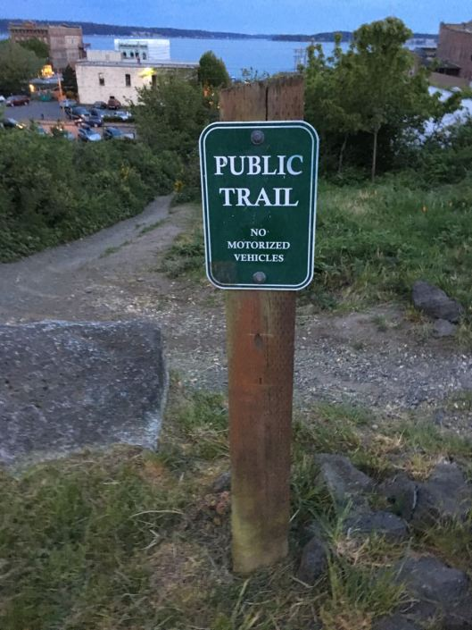 trip public trail sign
