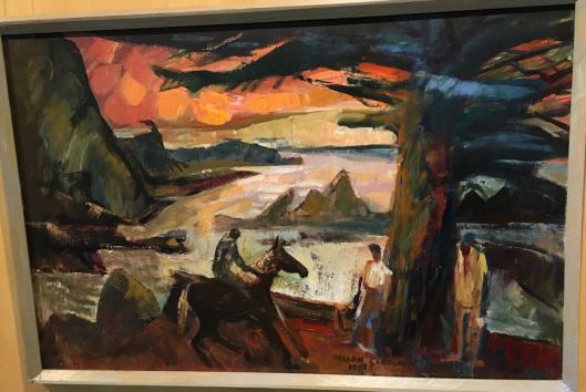 "Nelson Sandgren, 1997, ""Evening Rider by the Sea"""