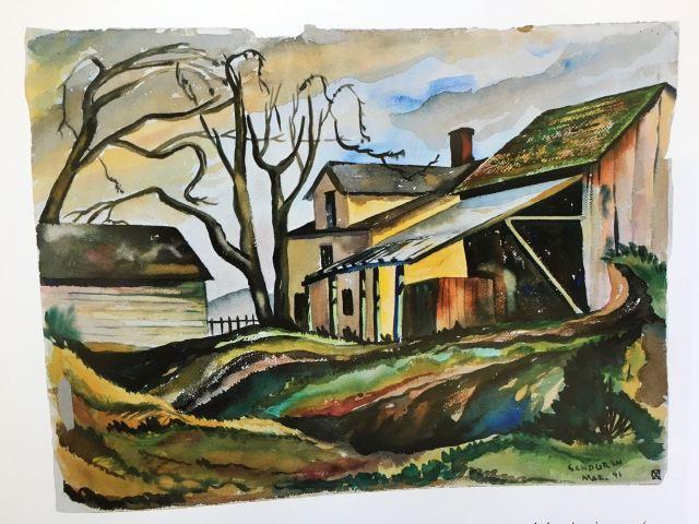 Untitled farmyard, 1941