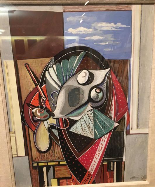 louis-bunce-1941-gouache-on-paper-the-bird